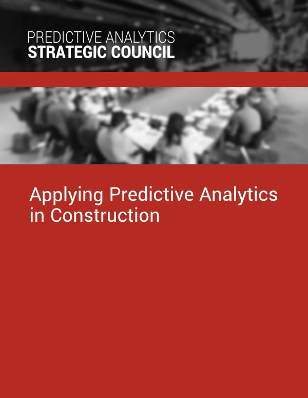 Applying Predictive Analytics in Construction